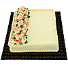 Welldeco  Ribbon Cake With Flowers - 3lb-(SHAPED CAKE) at Kapruka Online