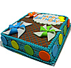 Happy Birthday  Chocolate Fudge Cake (Shaped Cake) at Kapruka Online