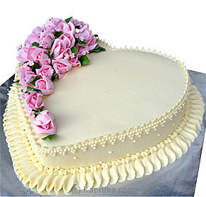 Heart Shape Cake - Well Decorated (Shaped Cake)at Kapruka Online forcakes