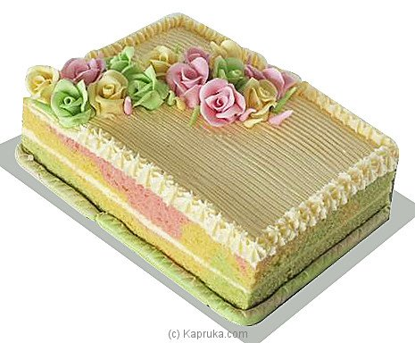 Ribbon Cake With Icing at Kapruka Online for cakes