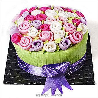 Romance Of The Rainbow Roses at Kapruka Online for cakes