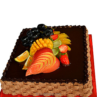 Chocolate & Fruit Gateaux(Shaped Cake) By Mahaweli Reach at Kapruka Online forcakes