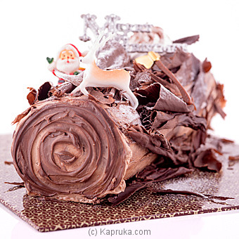 Chocolate Praline Yule Log(GMC)(Shaped Cake) at Kapruka Online for cakes