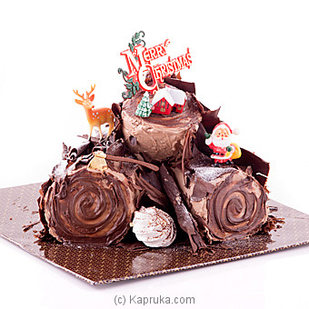 Special Chocolate-Praline Yule Log(GMC)(Shaped Cake) at Kapruka Online for cakes
