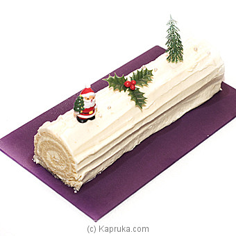 Cinnomon Lakeside Vanilla Yule Log at Kapruka Online for cakes