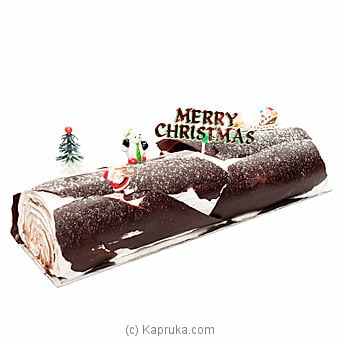 Kingsbury Buche Noel Black Forest Yule Log at Kapruka Online for cakes