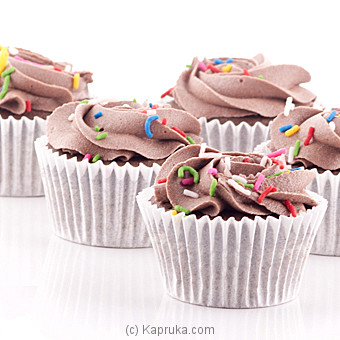 Chocolate Swril Cupcakes With Sprinkles - 12 Peice Packat Kapruka Online forcakes
