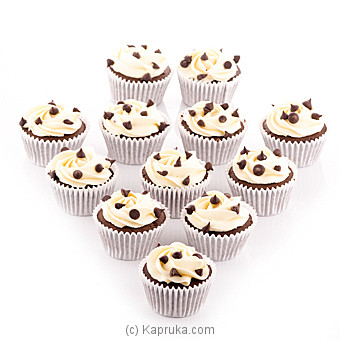 Vanilla Chip Cupcake - 12 Piece Cupcake at Kapruka Online for cakes