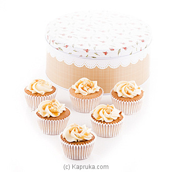 Vanila Caramel Cupcakes 6 Piece Gift Box at Kapruka Online for cakes