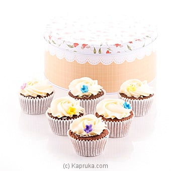 Vanila Swril Cupcake 6 Piece Gift Box at Kapruka Online for cakes