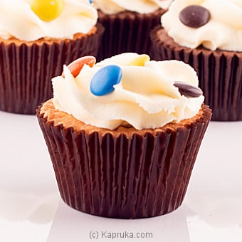 Vanilla Cupcakes With Smarties 12 Piece Packat Kapruka Online forcakes