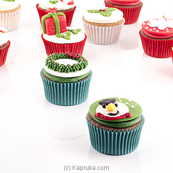 Blissful Christmas Cupcakes -12 Piece at Kapruka Online for cakes