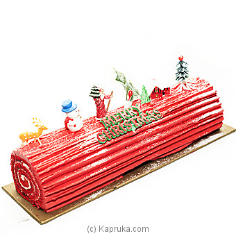 Kingsburry Buche Noel Red Velvet Cake at Kapruka Online for cakes