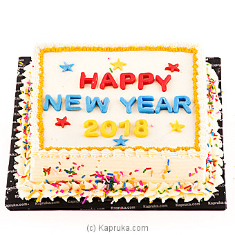 Cheers for 2018 at Kapruka Online for cakes