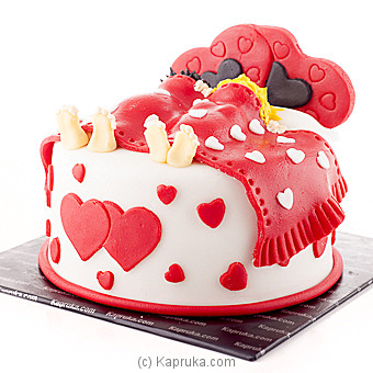 ` Love You More And More ` Ribbon Cake at Kapruka Online for cakes