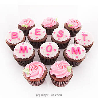 `You`re The Best Mom Ever ` Cupcakes - 12 Piece at Kapruka Online for cakes
