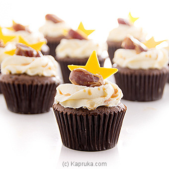 Eid Vanila Butterscotch Cupcakes With Dates - 12 Peice Pack at Kapruka Online for cakes