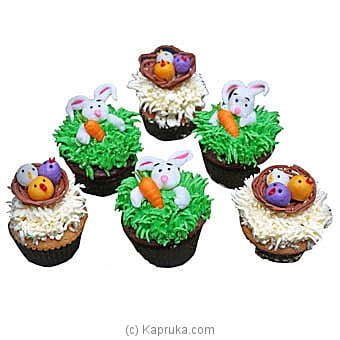 Hilton Easter 6 Pcs Of Cupcakes at Kapruka Online for cakes