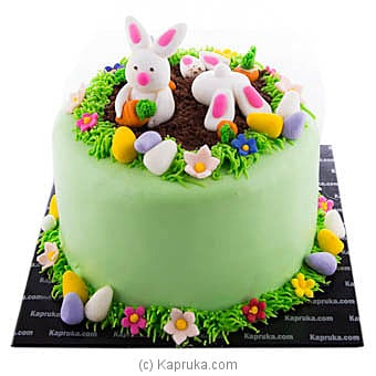 Easter Bunny Hugs Ribbon Cake at Kapruka Online