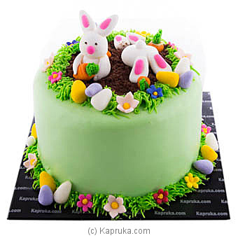 Easter Bunny Hugs Ribbon Cake(Shaped Cake) at Kapruka Online for cakes