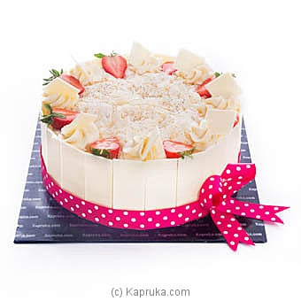 Kapruka Strawberry And White Chocolate Gateau at Kapruka Online for cakes