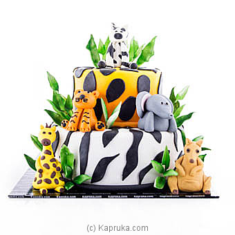 Jungle Safari Ribbon Cakeat Kapruka Online forcakes