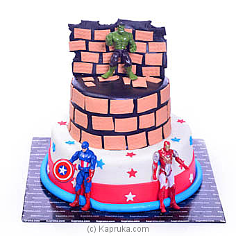 superheroes in actionat Kapruka Online forcakes