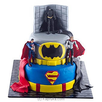 Excited Super Heroes at Kapruka Online for cakes