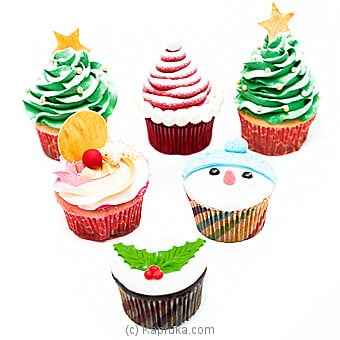Xmas Cup Cake Pack at Kapruka Online for cakes