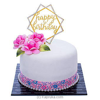 Flourishing Day Happy Birthday Cakeat Kapruka Online forcakes