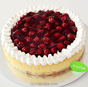 Red Cherry Baked Cheese Cake Online at Kapruka | Product# cakeBT00177