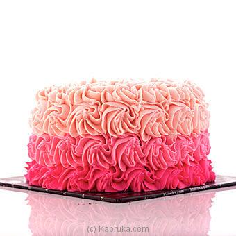 Swirly Rose Ribbon Cake Online at Kapruka | Product# cake00KA00374