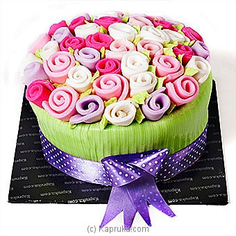 Romance Of The Rainbow Roses Online at Kapruka | Product# cake00KA00443
