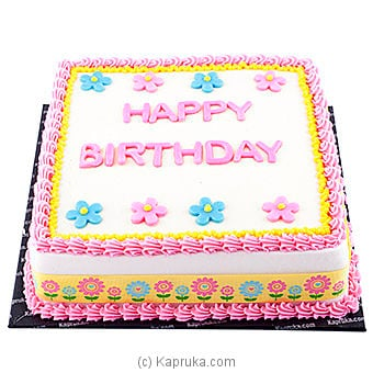 Flowery Princess Birthday Cake Online at Kapruka | Product# cake00KA00450