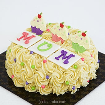 Price of Fab Mother`s Day Ribbon Cake(Shaped Cake) Fab ...