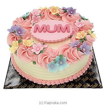 Fab Mother`s Day Ribbon Cake Online at Kapruka | Product# cakeFAB00257