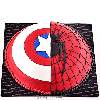 Spiderman Vs Captain America Online at Kapruka | Product# cake00KA00628