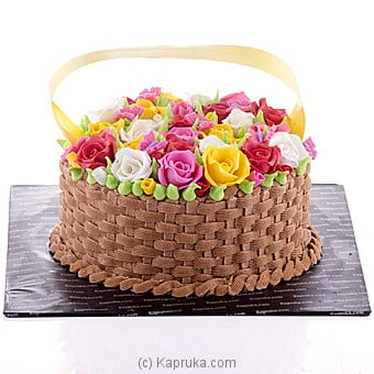 Rainbow Flowers Creamy Cake Online at Kapruka | Product# cake00KA00634