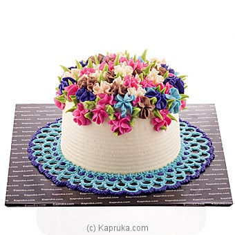 Rainbow Blooms Ribbon Cake Online at Kapruka | Product# cake00KA00648