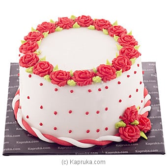 Lavish Rose Ribbon Cake Online at Kapruka | Product# cake00KA00649