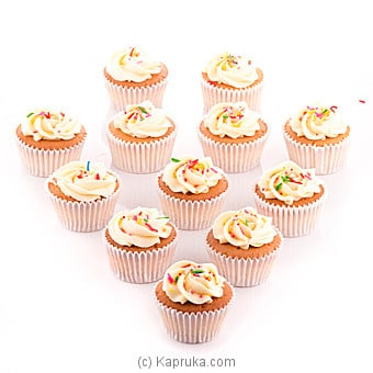 Vanila Swril Cupcakes With Sprinkles - 12 Peice Pack Online at Kapruka | Product# cake00KA00658
