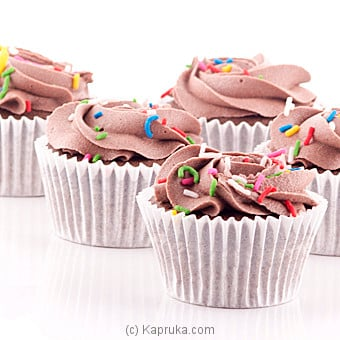 Chocolate Swril Cupcakes With Sprinkles - 12 Peice Pack at Kapruka Online for cakes