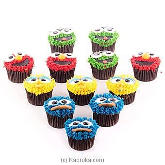 Cookie Monster Cupcakes- 12 Piece Pack at Kapruka Online for cakes