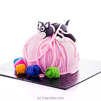 Kitten Tangled In Yarn Cake Online at Kapruka | Product# cake00KA00687