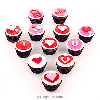 To My Valentine Cupcakes 12 Piece Pack Online at Kapruka | Product# cake00KA00727