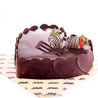 Java Heart Shaped Chocolate Cheese Cake Online at Kapruka | Product# cakeJAVA00106