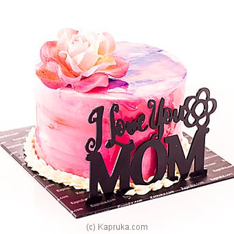 Pleasing Get I Love You Mom Ribbon Cake Price In Sri Lanka Cake Kapruka Personalised Birthday Cards Rectzonderlifede