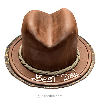 Father`s Chocolate Hat (shaped Cake) Online at Kapruka | Product# cake0GAL00162