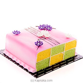 Kapruka Battenberg Delight Cake Online at Kapruka | Product# cake00KA00784