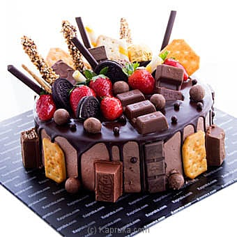 Choco With Strawberries Crispy Chocolate Cake Online at Kapruka | Product# cake00KA00795